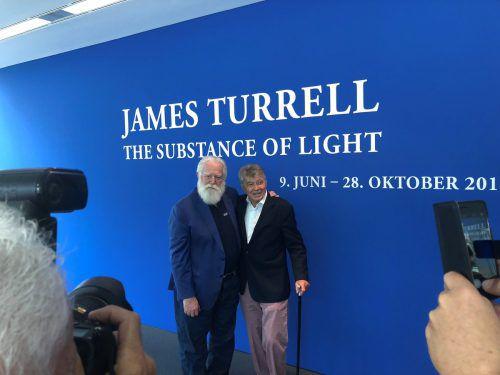 Der Künstler James Turrell mit dem Sammler Frieder Burda. häusler