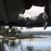 Lava-Bombe durchs Bootsdach: 23 Verletzte auf Hawaii