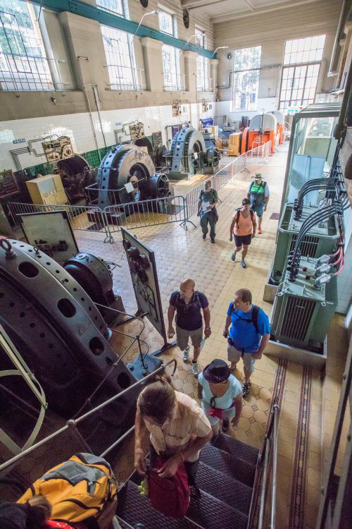 Der Maschinenraum des Kraftwerks Mühletor beeindruckte in seiner Dimension.