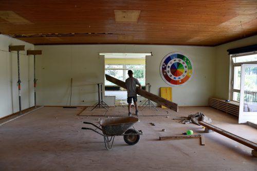 Die Arbeiten im Kindergarten Brederis sind bereits im vollen Gange. MGR