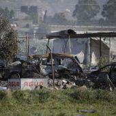 Explosion in Feuerwerksfabrik