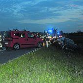 Zwei Verletzte bei frontaler Kollision in Lustenau