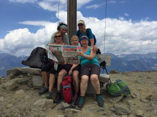 Die Mädelsrunde von Birgit Mayerhofer hat den Patscherkofel südlich von Innsbruck erfolgreich erklommen.