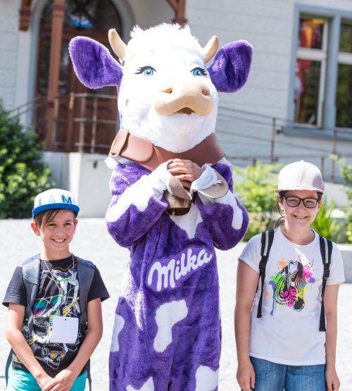 Die Milka Kuh darf beim Schokofest natürlich nicht fehlen. VN/Stiplovsek