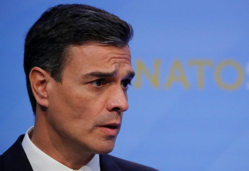 Die Minderheitsregierung von Pedro Sanchez gerät unter Druck. RTS