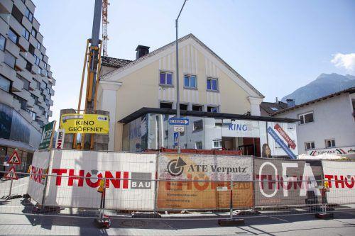 Die Umbauarbeiten im Kino Bludenz verlaufen aktuell nach Plan. MEZ