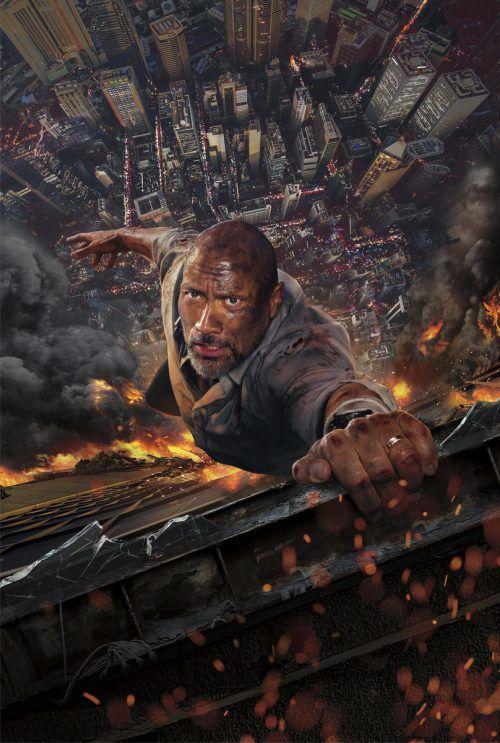 Dwayne Johnson muss seine Frau und seine zwei Kinder aus einem brennenden Skyscraper retten. AP