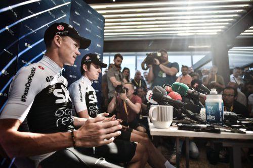 Ein Sky-Fahrer muss die Tour gewinnen: Chris Froome (l.) und Geraint Thomas.apa