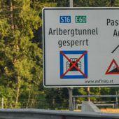 Kurzzeitige Sperre des Arlbergtunnels