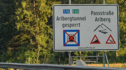 Ein Stromausfall sorgte gestern für eine Sperre des Arlbergtunnels. VN/Lerch