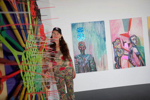 Elisabeth von Samsonow, Religionswissenschaftlerin, Philosophin und Künstlerin, präsentiert neuere Arbeiten. VN/Paulitsch