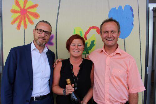 Elternvereinsobleute: Peter Holzner, Sabrina Schneider, Franz Rädler.