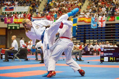 EM-Starterin Hanna Devigili erreichte bei der WKF-Youth-League in Umag das Viertelfinale.Verband