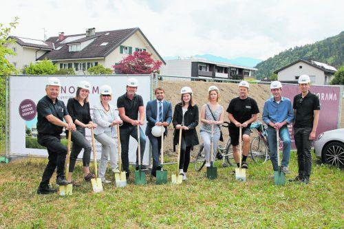 Ende Juni fand der Spatenstich der Kleinwohnanlage mit Panorama Wohnbau statt.Foto: panorama wohnbau