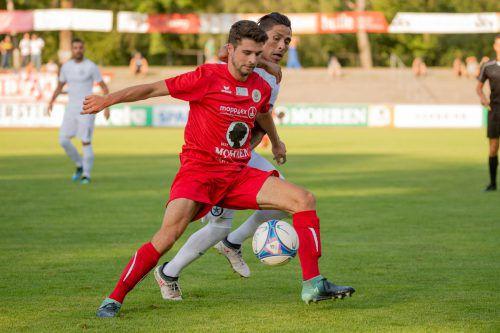 Endstation im ÖFB-Cup für den FC Dornbirn: Die Rothosen mussten sich dem SC Schwaz auswärts mit 0:2 geschlagen geben und scheiden somit aus.vn