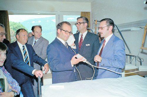Eröffnung des Landeskrankenhauses Feldkirch als neues medizinisches Zentrum des Landes Vorarlberg.