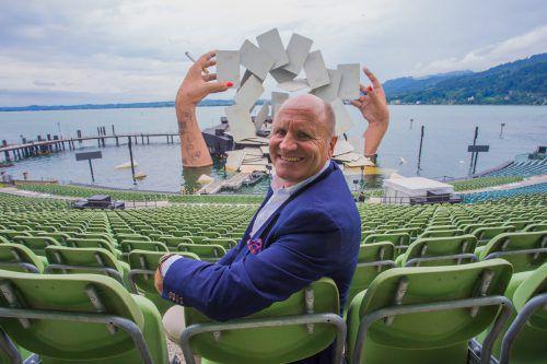 """Festspiel-Präsident Hans-Peter Metzler: """"Die Sponsoren sind weiterhin im Boot."""" VN/Steurer"""