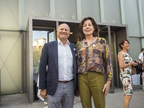 Festspielpräsident Hans-Peter Metzler und KUB-Freunde-Präsidentin Margareta Eberle.
