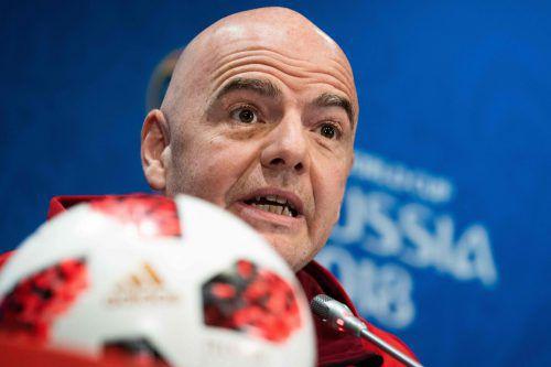 FIFA-Präsident Gianni Infantino zeigte sich vom Höhlendrama gerührt. AFP