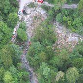 Zwei Tote bei Absturz mit Traktor in Dornbirn