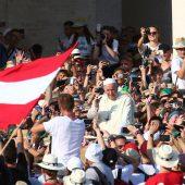 Treffen mit dem Papst