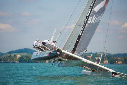 Fritz Trippolt segelte bei der Ost-West mit Juluis Trippolt, Florian Meier und Matthias Luger.VN/paulitsch