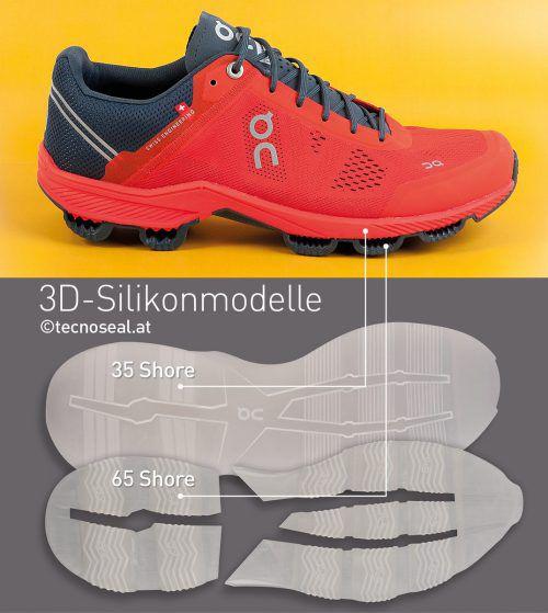 Für den Schweizer Laufschuhhersteller on-running wurde die Schuhsohle gedruckt und zum Test zur Verfügung gestellt.