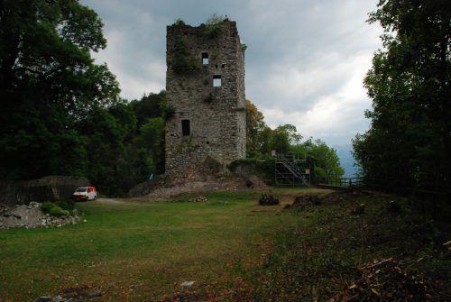 Für die Vermessung wird die Ruine vom Gestrüpp befreit. Marktgemeinde