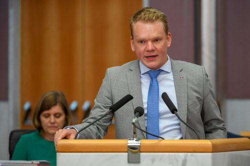 Für FPÖ-Parteiobmann Christof Bitschi ist die Arbeitszeitflexibilisierung ein wichtiger Schritt in die Zukunft und kein Kniefall vor der Wirtschaft.VN/lerch