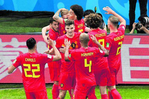 Fußball-Pralinen aus Belgien: Das Team von Roberto Martínez sorgte mit dem Sieg gegen Brasilien für die nächste WM-Überraschung. apa