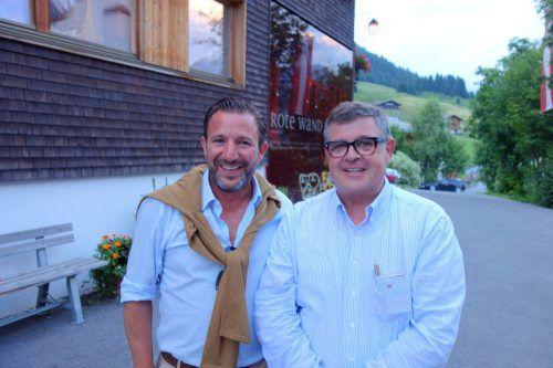 Gastronomen unter sich: Lukas Marberger (l.) und Joschi Walch.