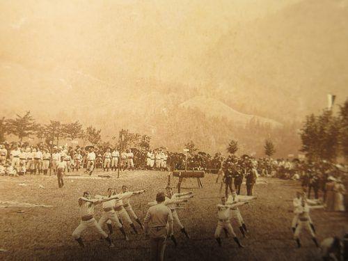 Gaufest des Turnvereins Dornbirn auf dem Zanzenberg 1894. Der Verein stand dem liberal-nationalen Lager nahe. Stadtarchiv