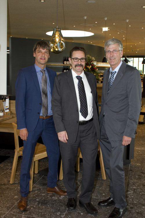 Geschäftsführertrio: Joachim Nägele (l.), Peter Hofstetter und Werner Schindele.