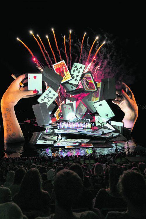 """Gestern Abend fand die Generalprobe statt: """"Carmen"""" wird heuer ab 19. Juli 29 Mal aufgeführt. Vn/Sams"""