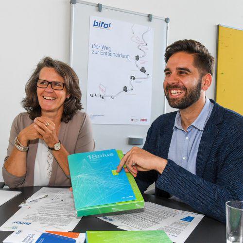 Heidi Schobel und Andreas Pichler raten, sich frühzeitig mit Interessen und Fähigkeiten auseinanderzusetzen.