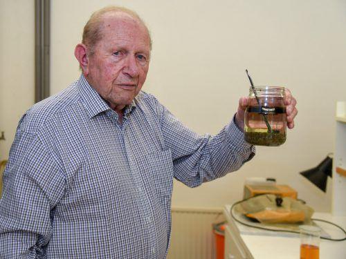 Heinz Bereuter forscht mit fast 86 Jahren unermüdlich weiter.VN/Lerch