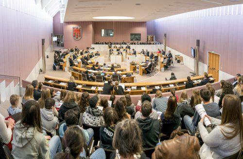 Heute um 9 Uhr beginnt die zweitägige Landtagssitzung. VN/Stiplovsek