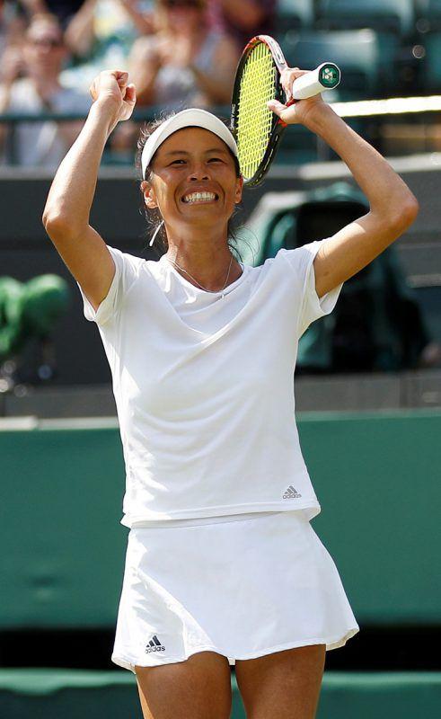 Hsieh Su-Wei aus Taiwan sorgte mit ihrem Sieg über Simona Halep, Nummer eins der Welt, im Damenturnier von Wimbledon für die große Überraschung.ap