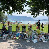 Kampf den Müllbergen am See