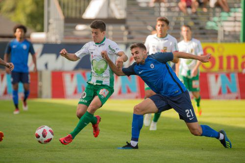 Im Test gegen Atromitos Athen musste sich Austria Lustenau mit 1:2 geschlagen geben. VN/Stiplovsek