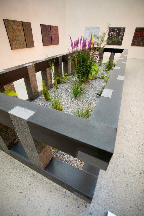 Im Vorarlberg Museum stellt Meusburger bedrohte Pflanzen unter Schutz. VN