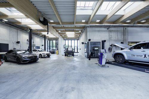 In Götzis findet sich nun ein Servicecenter für die gesamte Schneider-Produktpalette – vom Smart bis zum Evo-Bus. Fa/Hagen