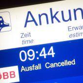 Zugausfälle auch in Vorarlberg