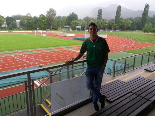Janio Ramirez ist in Mexiko-City geboren und geht nun im Götzner Mösle-Stadion auf Torjagd.VN/mef