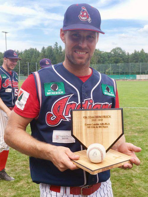 Joachim Frick ist der Catcher mit den meisten Hits in der nationalen Liga. Privat