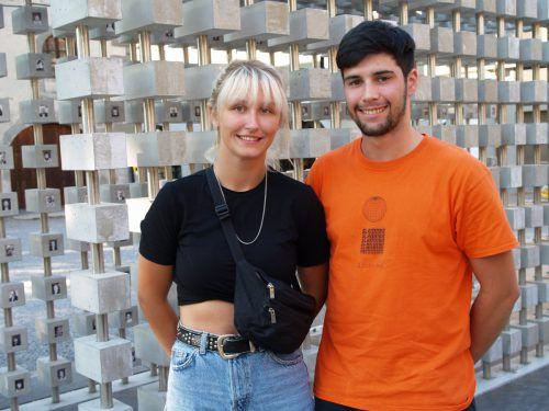 Joanne Tschenett und Ruben De Sa' (Teilnehmer des Architekturworkshops).