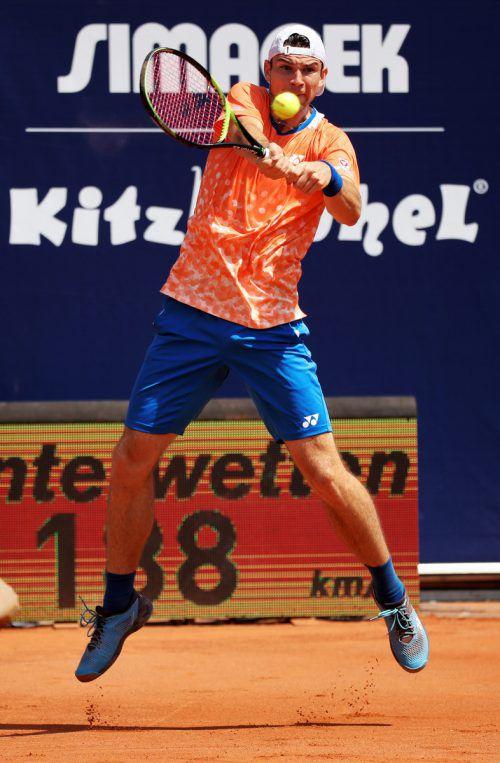 Jurij Rodionov arbeitete sich erstmals bis in einen ATP-Hauptbewerb vor.gepa