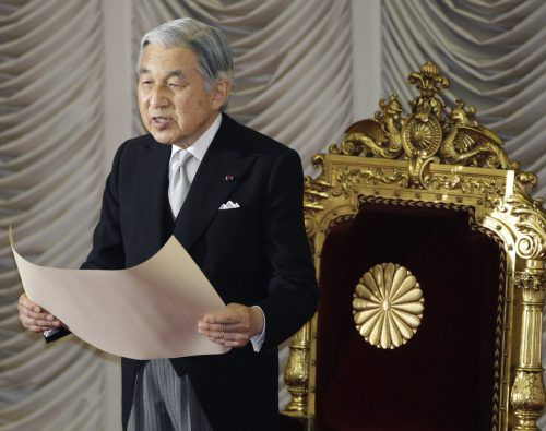 Kaiser Akihito will auf eigenen Wunsch am 30. April 2019 abdanken. AP