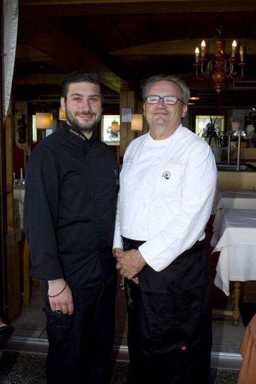 Koch mit Hausherr: Dominik (l.) und Karlheinz Hehle.