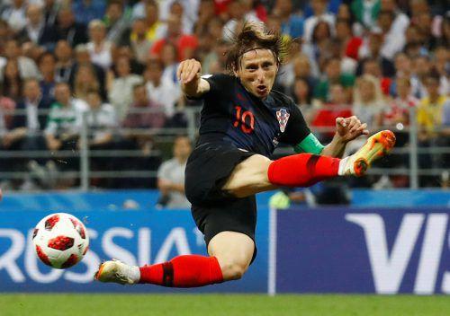 Kroatiens Teamkapitän Luka Modric erlebt gerade seine beste Zeit als Fußballer, die Krönung wartet.afp